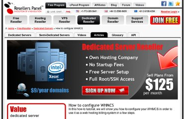 http://www.resellerspanel.com/dedicated-servers/articles/how-to-configure-whmcs.html