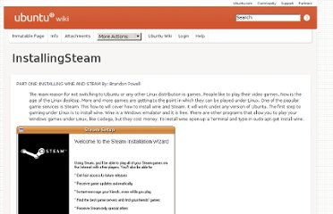 https://wiki.ubuntu.com/UbuntuMagazine/HowTo/InstallingSteam
