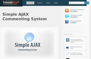 http://tutorialzine.com/2010/06/simple-ajax-commenting-system/