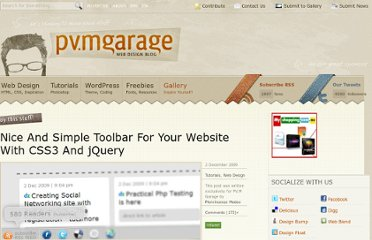 http://www.pvmgarage.com/2009/12/nice-and-simple-toolbar-for-your-website-with-css3-and-jquery/