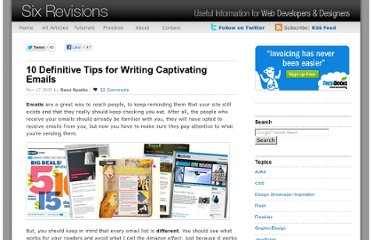http://sixrevisions.com/project-management/10-definitive-tips-for-writing-captivating-emails/