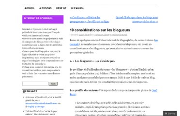 http://internetetopinion.wordpress.com/2008/06/05/10-considerations-sur-les-blogueurs/