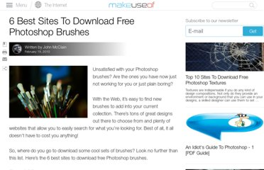 http://www.makeuseof.com/tag/6-sites-download-free-photoshop-brushes/