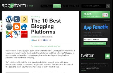 http://web.appstorm.net/roundups/self-publishing/the-10-best-blogging-platforms/