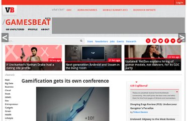 http://venturebeat.com/2010/09/30/gamification-gets-its-own-conference/