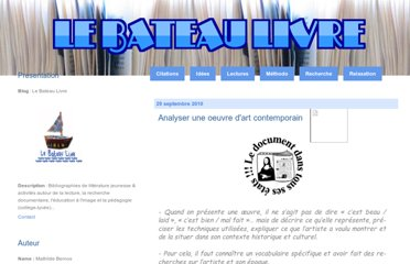 http://lebateaulivre.over-blog.fr/article-analyser-une-oeuvre-d-art-contemporain-57934295.html