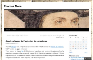http://thomasmore.wordpress.com/2010/10/05/appel-en-faveur-de-lobjection-de-conscience/