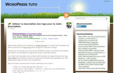 http://wordpress-tuto.fr/meta-description-tags-wordpress-1439
