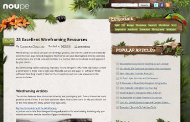 http://www.noupe.com/design/35-excellent-wireframing-resources.html