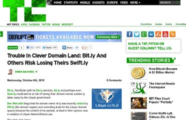 http://techcrunch.com/2010/10/06/trouble-in-clever-domain-land-bit-ly-and-others-risk-losing-theirs-swift-ly/