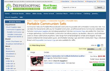 http://www.deepershopping.com/church-supplies/portable-communion-sets.html