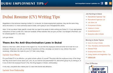 Professional resume writing services in dubai