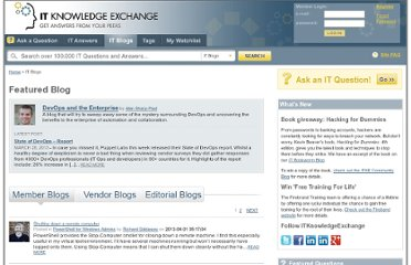 http://itknowledgeexchange.techtarget.com/itblogs/