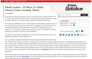 http://ezinearticles.com/?Flash-Games---10-Ways-To-Make-Money-From-Creating-Them!&id=561236