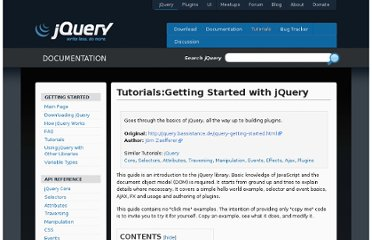 http://docs.jquery.com/Tutorials:Getting_Started_with_jQuery