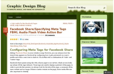 http://grafikdesign.wordpress.com/2010/02/10/facebook-sharespecifying-meta-tags-fbml-audio-flash-video-action-bar/