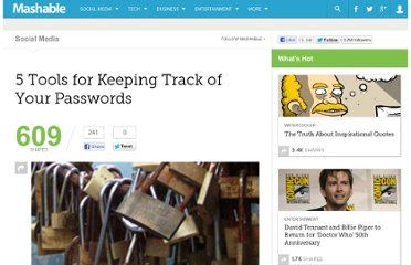 http://mashable.com/2010/10/08/password-management-tools/