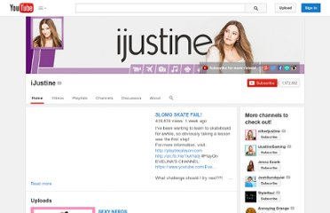 http://www.youtube.com/user/ijustine