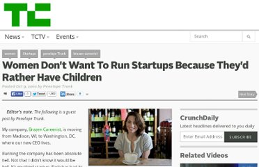 http://techcrunch.com/2010/10/09/women-startups-childre/