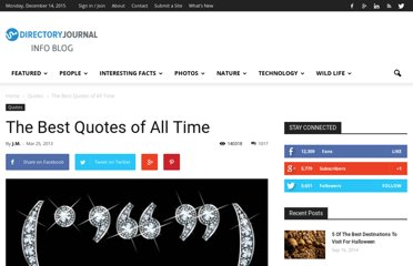 http://www.dirjournal.com/info/the-best-quotes-of-all-time/