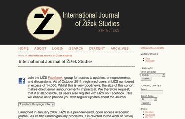 http://zizekstudies.org/index.php/ijzs/index