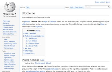 http://en.wikipedia.org/wiki/Noble_lie