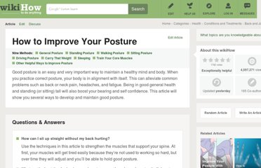 http://www.wikihow.com/Improve-Your-Posture