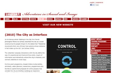 http://www.impakt.nl/index.php/online/city_as_interface