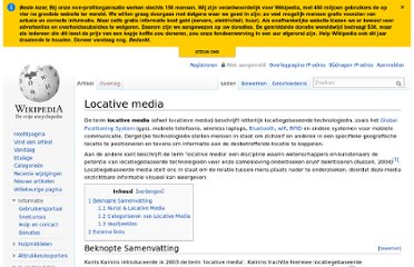 http://nl.wikipedia.org/wiki/Locative_media