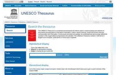 http://databases.unesco.org/thesaurus/
