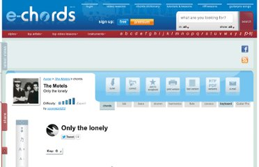 http://www.e-chords.com/chords/the-motels/only-the-lonely