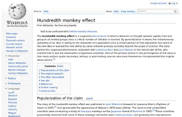http://en.wikipedia.org/wiki/Hundredth_monkey_effect