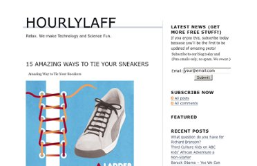 http://www.hourlylaff.com/15-amazing-ways-to-tie-your-sneakers/