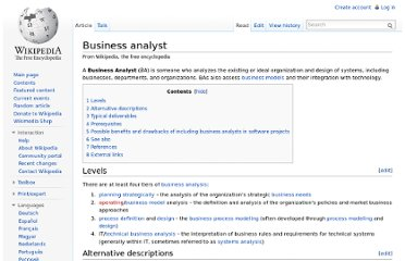 http://en.wikipedia.org/wiki/Business_analyst
