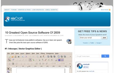 http://www.cyberciti.biz/tips/10-greatest-open-source-software-of-2009.html