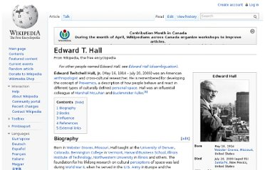 http://en.wikipedia.org/wiki/Edward_T._Hall