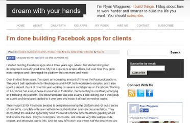 http://ryanwaggoner.com/2010/09/im-done-building-facebook-apps-for-clients/