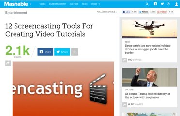 http://mashable.com/2008/02/21/screencasting-video-tutorials/