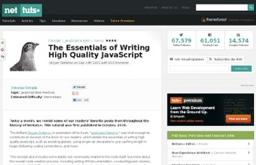 http://net.tutsplus.com/tutorials/javascript-ajax/the-essentials-of-writing-high-quality-javascript/