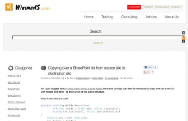 http://blah.winsmarts.com/2007-5-Copying_over_a_SharePoint_list_from_source_site_to_destination_site.aspx