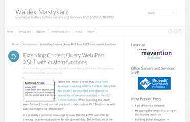 http://blog.mastykarz.nl/extending-content-query-web-part-xslt-custom-functions/