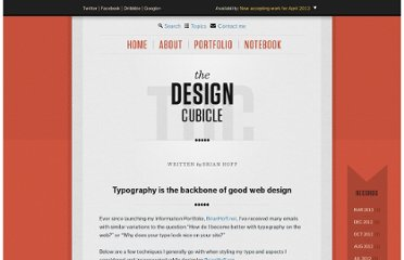 http://www.thedesigncubicle.com/2009/11/typography-is-the-backbone-of-good-web-design/