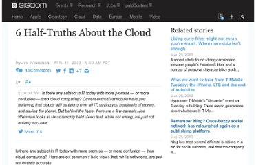 http://gigaom.com/2009/04/11/6-half-truths-about-the-cloud/