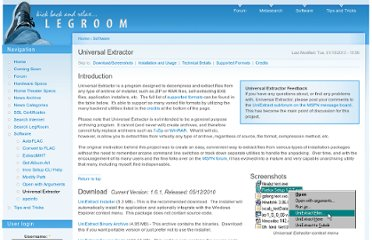 http://legroom.net/software/uniextract#download