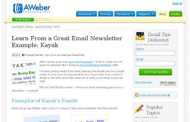 http://www.aweber.com/blog/email-marketing/great-email-newsletter-by-kayak.htm