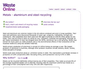 http://www.wasteonline.org.uk/resources/InformationSheets/metals.htm