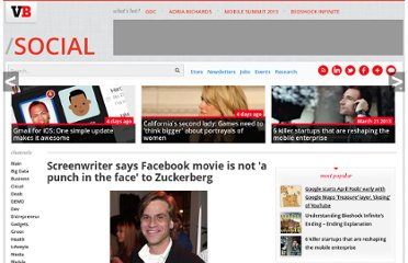http://venturebeat.com/2010/09/13/facebook-movie-writer-its-not-a-punch-in-the-face/