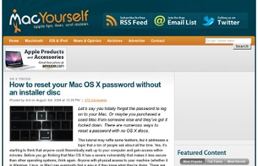 http://www.macyourself.com/2009/08/03/how-to-reset-your-mac-os-x-password-without-an-installer-disc/
