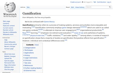 http://en.wikipedia.org/wiki/Gamification