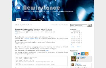http://en.newinstance.it/2005/10/04/remote-debugging-tomcat-with-eclipse/